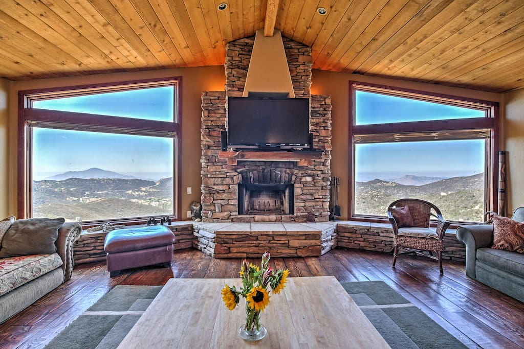 The views are extraordinary from inside the home and out.