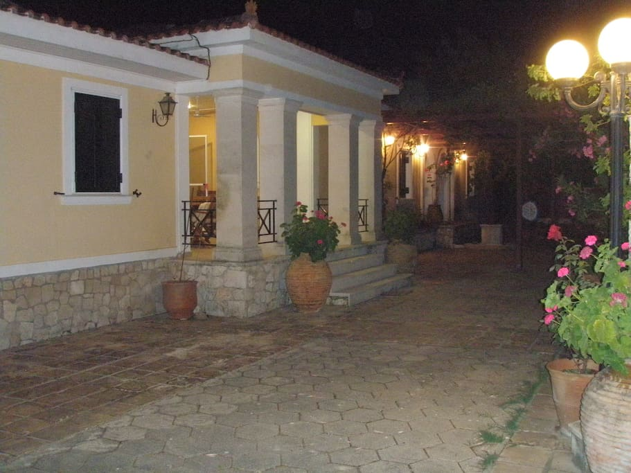 Villa Yiolanda night view