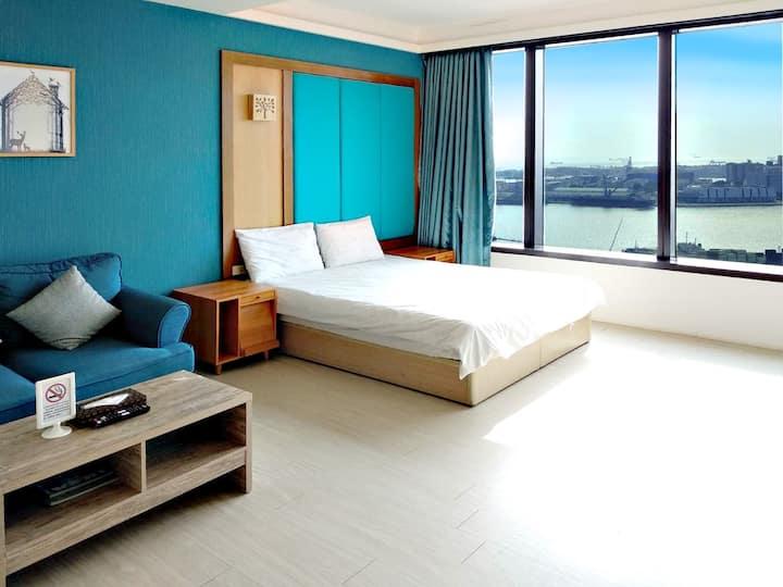 ◆高雄85大樓◆ 豪華正海景曼哈頓套房(全房經自主臭氧消毒處理)