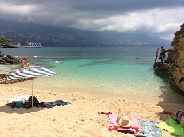 Kefalonia beaches: charming lagoon in Pessada - only 2,5 km from the apartments!