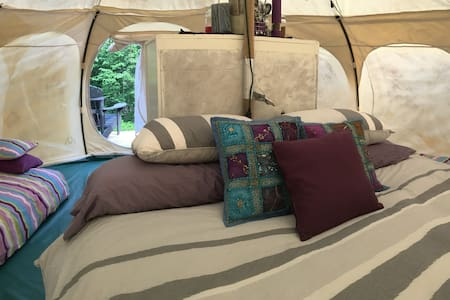 Glamping on the Canadian Shield, Trails, Views!