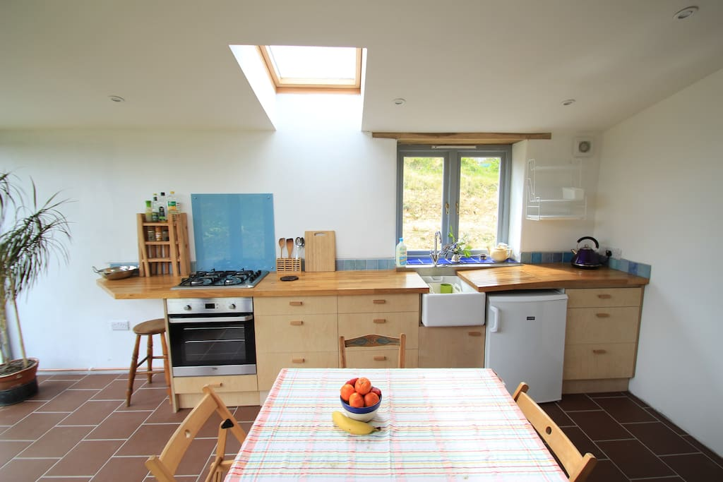 Well equipped kitchen with plenty of space.