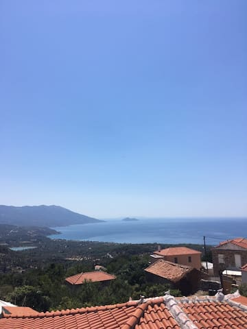 Panorama view to the Aegean Sea