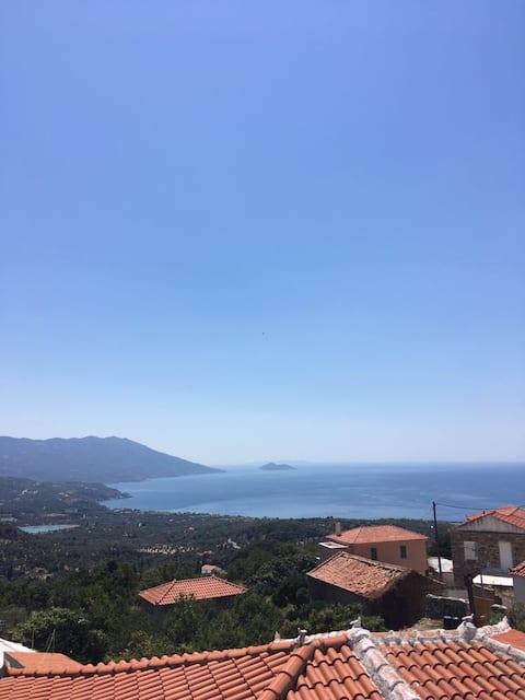 Panorama view to the Aegean Sea