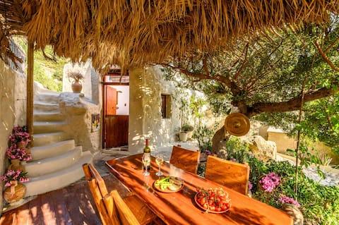 Casa de campo familiar Skinos com jardim privativo de azeitonas