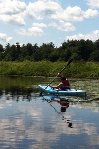 ... kayaking,