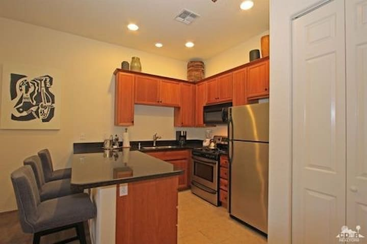 Walk to dinner in Old Town or prepare a meal in our galley kitchen. Features a gas range and oven.
