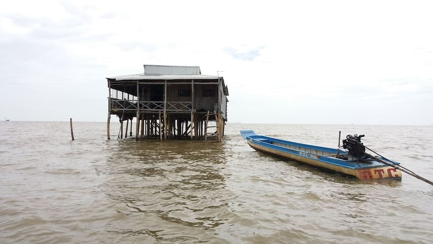 Stilts house  in An Bien Floating Village