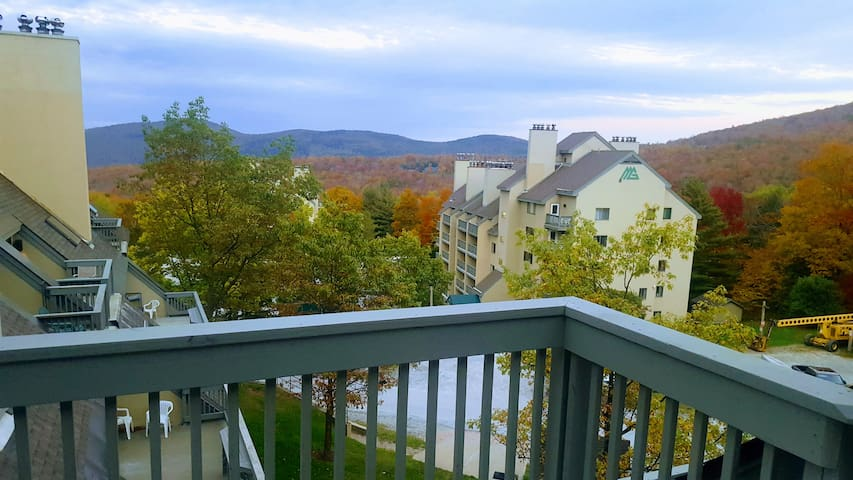 Your private balcony overlooking the green mountains