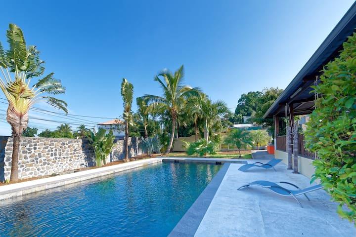 VILLA DES PALMES, grande piscine, 3 chambres haut standing