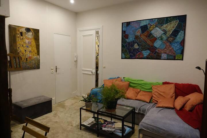 Salle de séjour . Canapé lit (2 places)