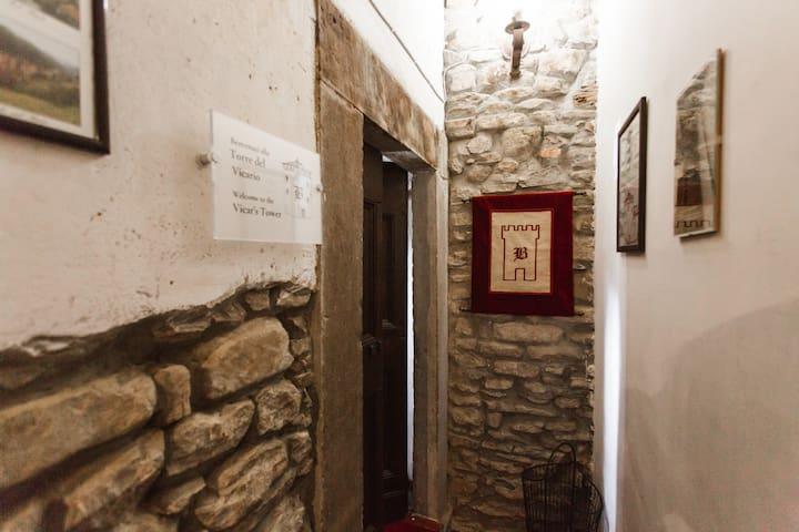 l' entrata dalle scale interne