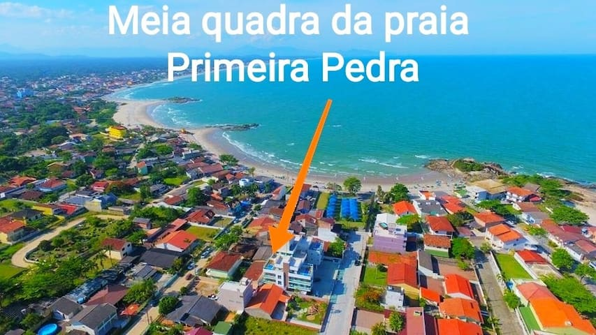 cobertura, piscina privativa, vista do mar e serra