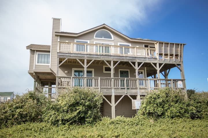 Corolla, NC-Semi-Oceanfront-steps to the beach!