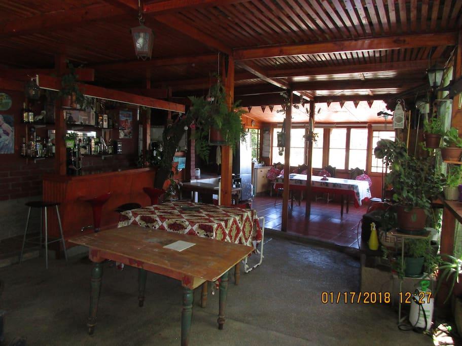 Quincho , lugar de esparcimiento
