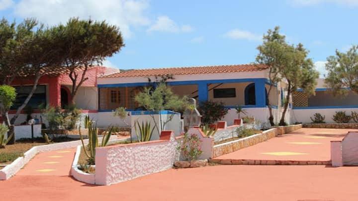 Villette a Lampedusa vista mare