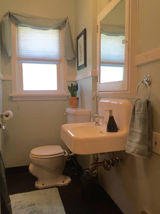 Your private bathroom is right next door to your bedroom.