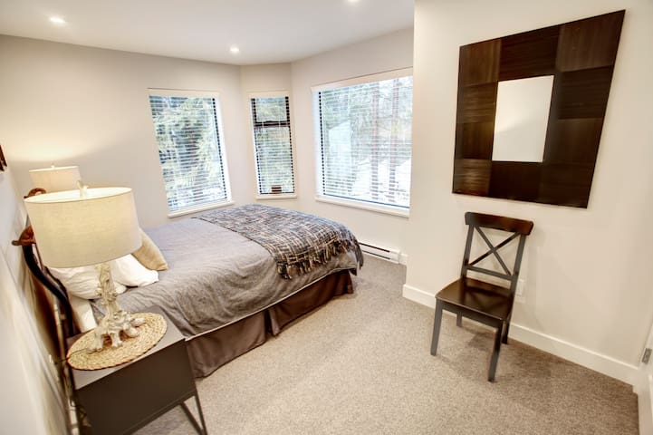 Bedroom#2 is spacious and offers direct views of Blackcomb Mountain.