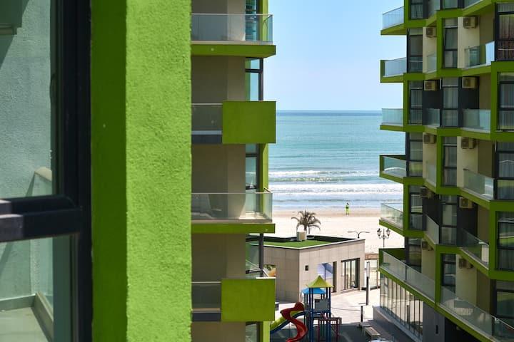 Golden Sunrise studio in ALEZZI Beach resort