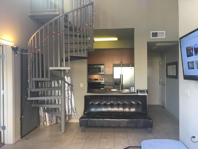 Penthouse apt 1bdroom+loft 4beds, campus, downtown