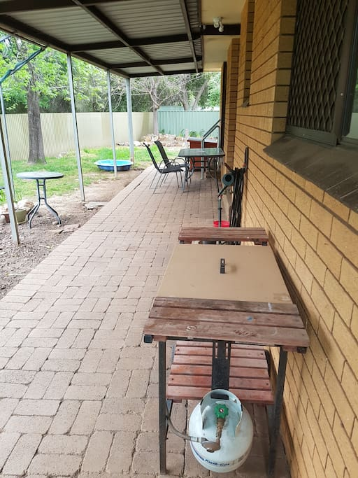 Outdoor area and BBQ