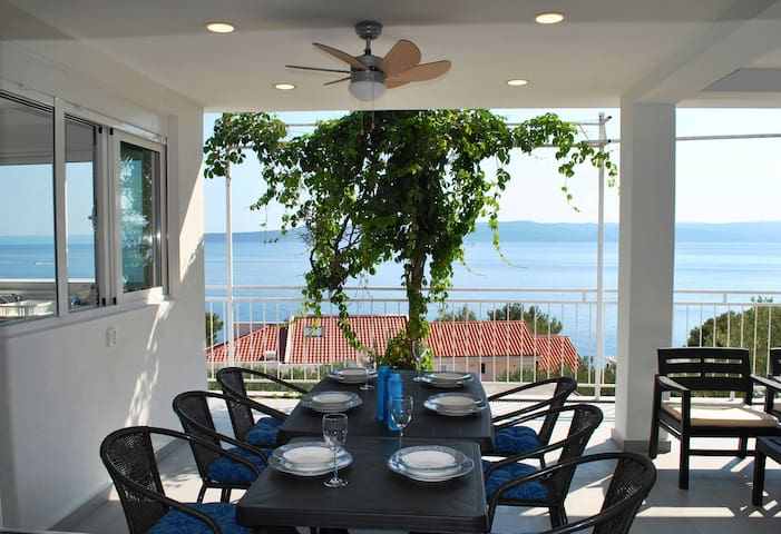 150m from beach, Large Dining Terrace