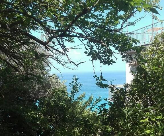 Appartamento in villa con vista sul mare