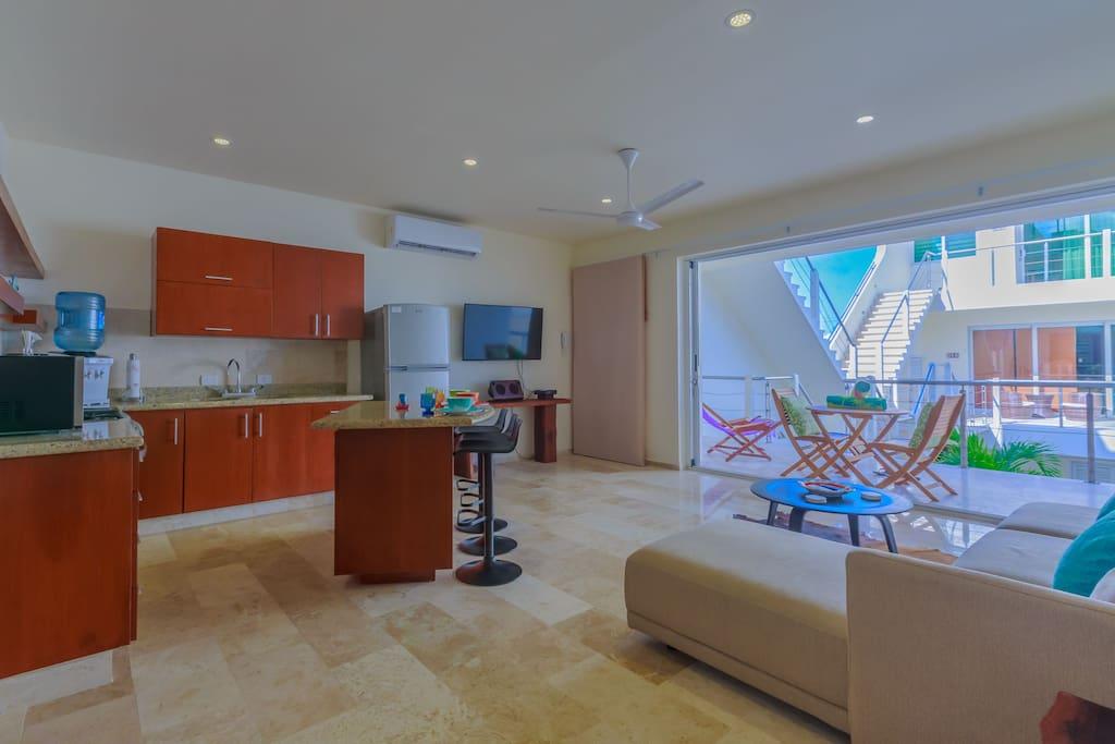 living area - open floor concept