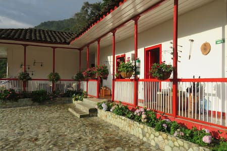 Traditional Colombian house in the Cocora Valley