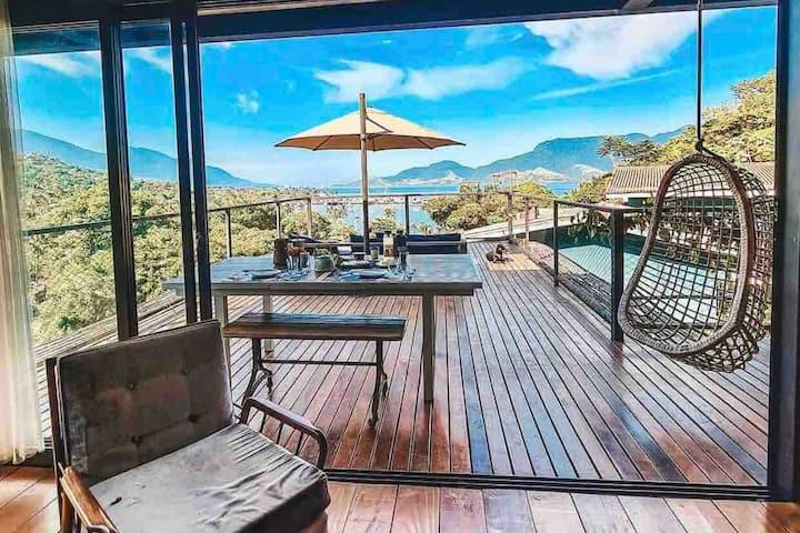 Vista Mar, Jacuzzi, Terraço e Lounge, 2minda Praia