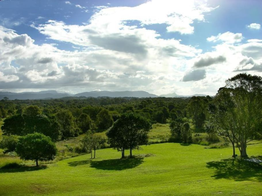 View of Mt Warning from the verandas
