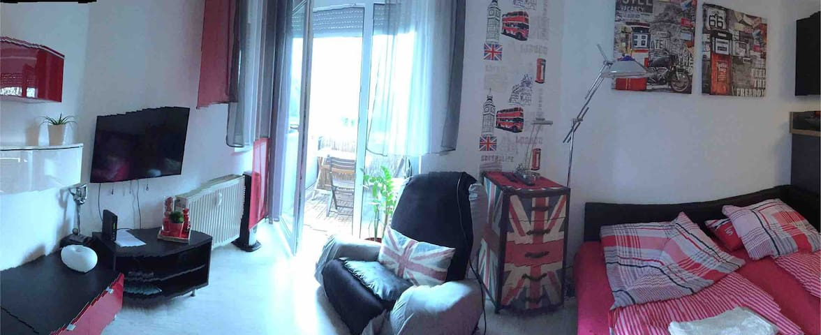 Mainz - moderne 1-Zi-Apartment mit Balkon, WiFi