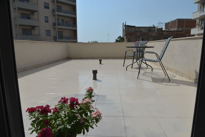 Comfortable and large Balcony, with open view