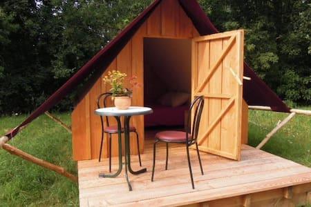 Ecolodge bois/toile terrasse - Bouzillé - Blockhütte