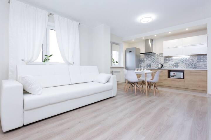 Новая квартира с 2 спальнями и панорамным видом