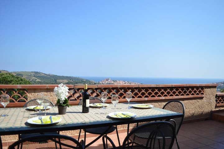 Villa superbe vue sur mer et montagne jardin