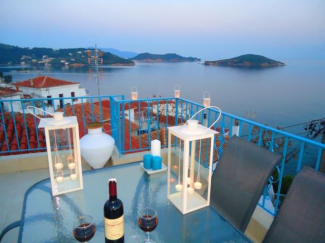 Orsalia Sea View House in romantic Plakes