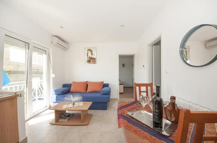Apartments Brna Relax - Comfort One Bedroom Apartment with Balcony and Sea View(A3)