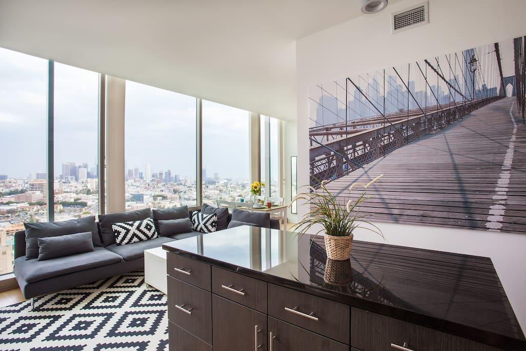 5 star la penthouse loft highrise amazing view for Penthouse apartment los angeles