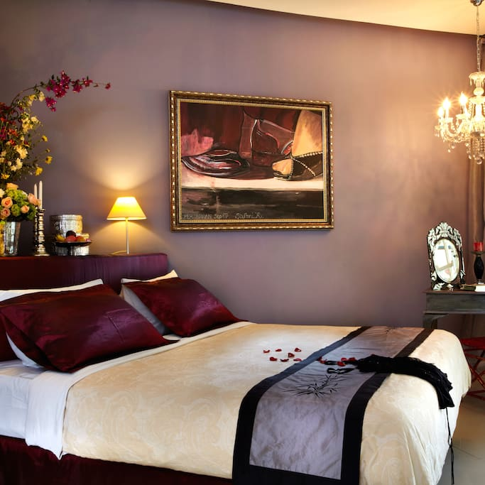 The Passion room with kingsize bed