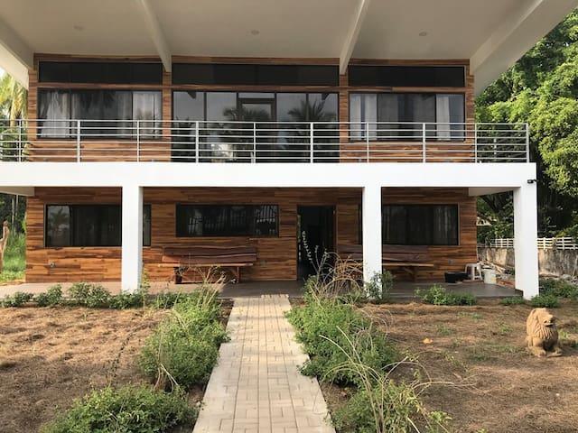 Modern beach front dream house on Island Mar y Sol