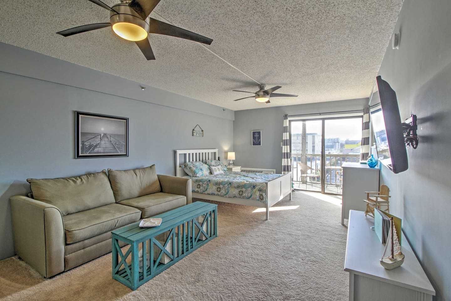 Elevate your Maryland trip at this bright Ocean City vacation rental studio.