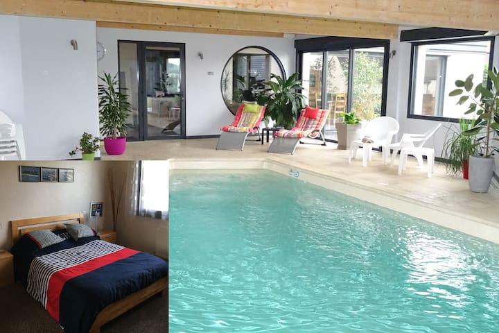 Chambre3,piscine,billard,fitness J - Dernancourt - Dom