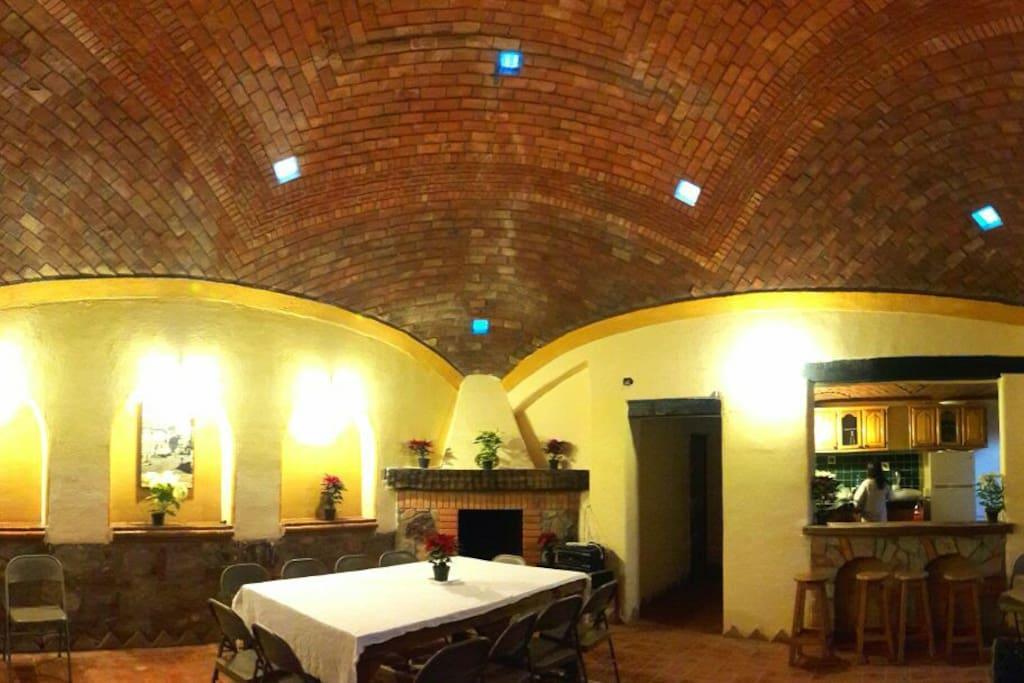 Cabaña, chimenea
