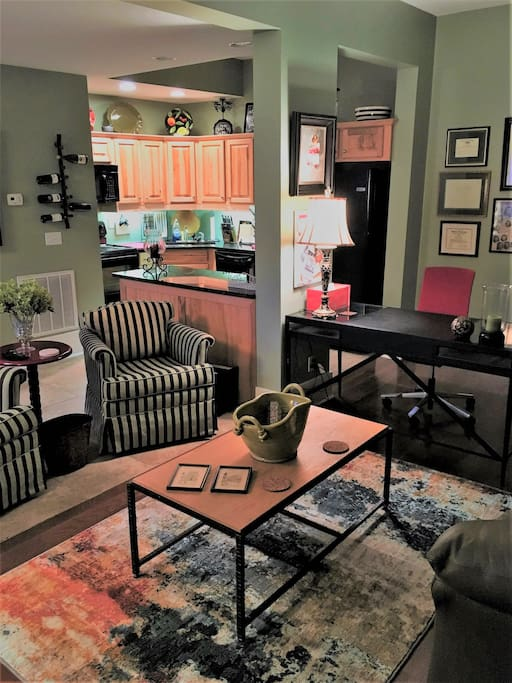 Fully furnished, never lived in, gorgeous apartment in the heart of downtown Morganton!  Welcome home!