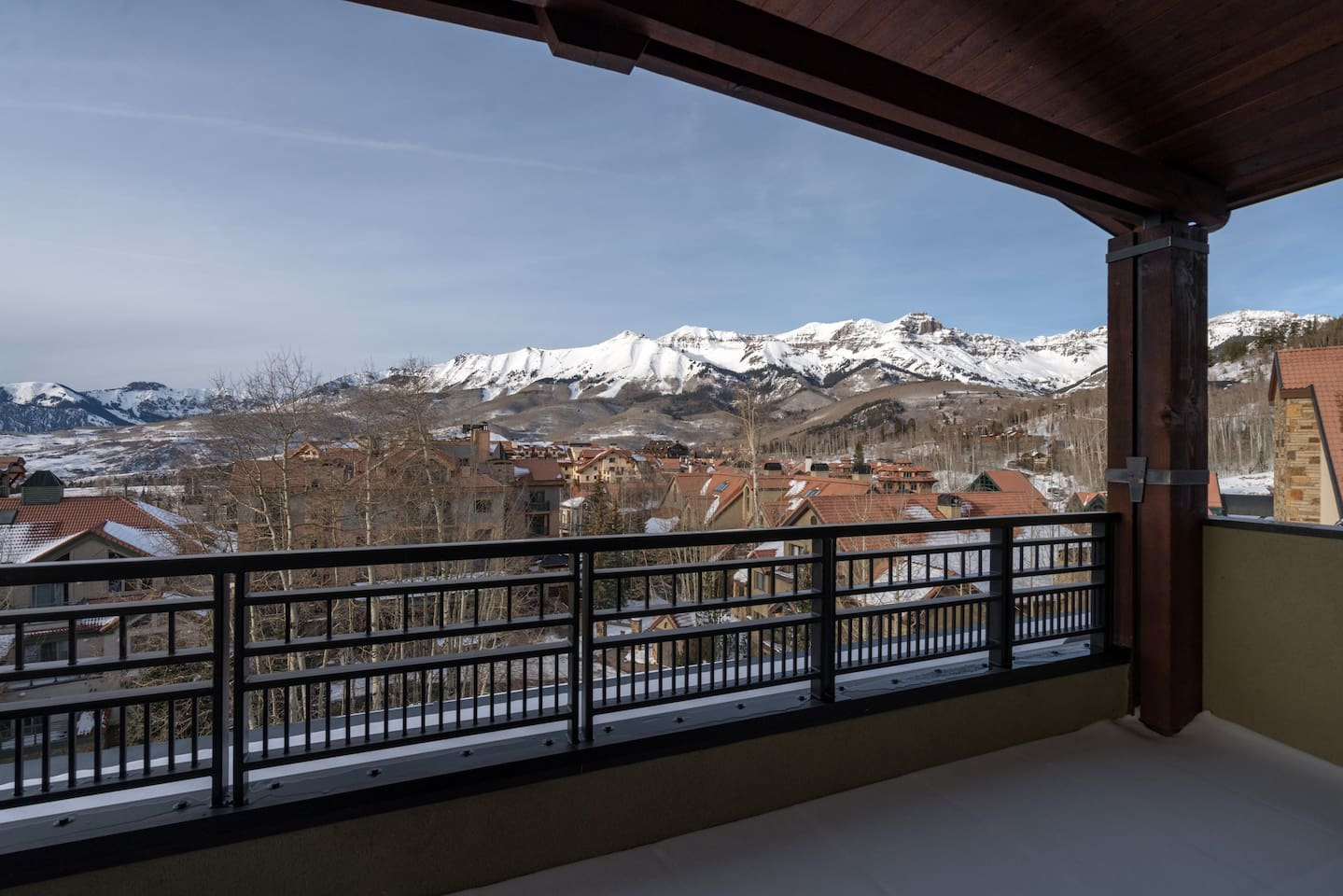 Step out onto your balcony and breathe the fresh mountain air!