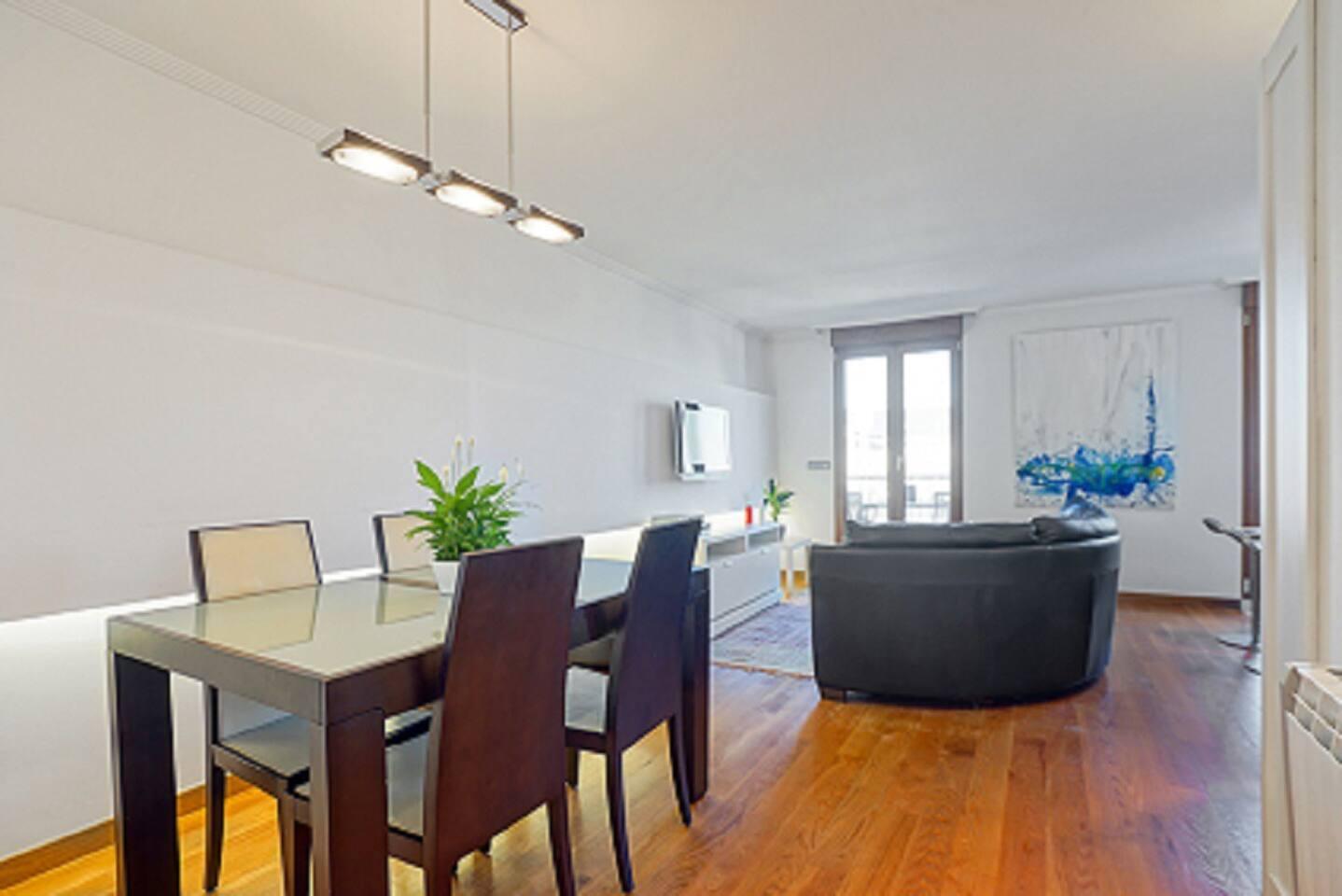 Salon con acceso a Terraza