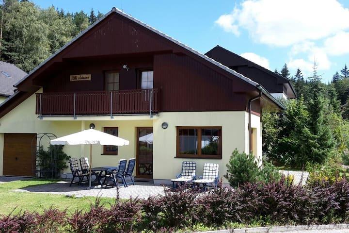 Bella villa presso il lago di Lipno, sport invernali e piste da sci a pochi passi.