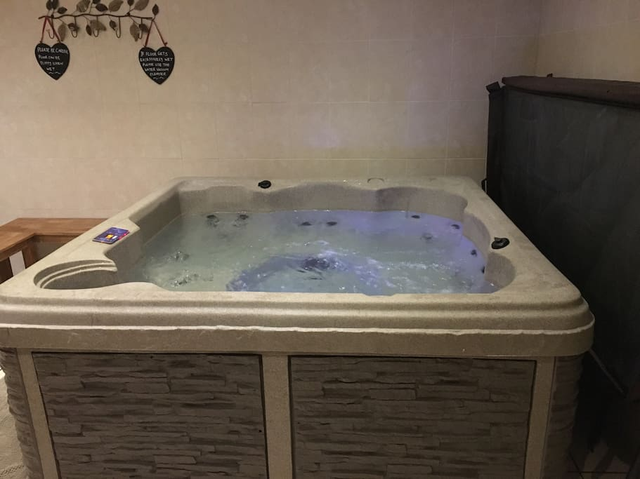 Relax in the hot tub!!