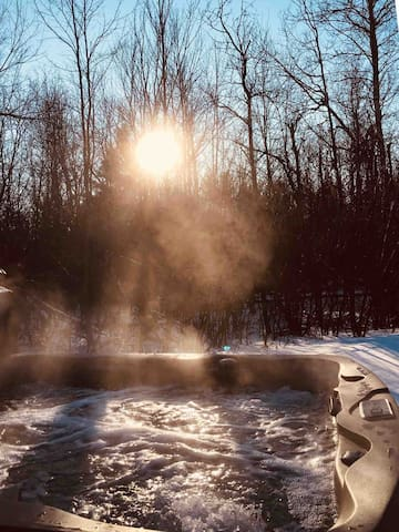 Brand new 7 person hot tub. Perfect after a day on the slopes!